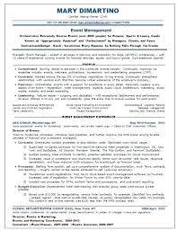 Event Planning Resume Planner Objective Job Description Sample