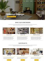 Interior Design Web Templates