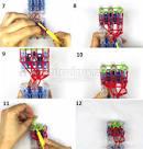 Схема плетения животных из резинок на станке