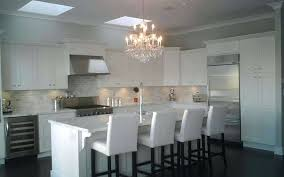 kitchen crystal chandelier white with