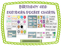 Learning Resources Birthday Pocket Chart Esl Birthday Numbers And Plurals Pocket Charts Elementary
