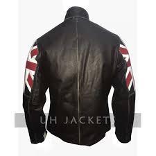 cafe racer uk flag motorcycle leather jacket