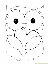 Baby Owl Coloring Pages Free Printable Owl Coloring Pages For