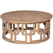Furniture Coffee Tables Washed Wood Interlocking Coffee Table