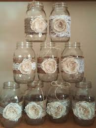 Decorating Ideas With Mason Jars 100 Shabby Chic Mason Jar Sleeves Rustic Wedding Centerpieces 37