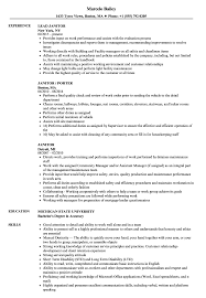 Janitor Resume Sample Janitor Resume Samples Velvet Jobs 5