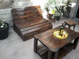 diy wood patio furniture. Brilliant DIY Outdoor Seating Pallet Wood Furniture Set Dark And Pallets Diy Patio