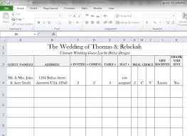 Printable Wedding Guest List Organizer Free Downloadable Wedding Guest Rsvp List Wedding Tips