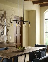 a vintage chandelier with exposed lamps pairs well rustic home decor theme progress lighting equinox 4