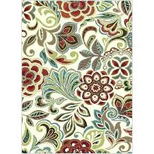 red and teal area rug blue 8 x large ivory outdoor