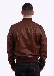 stockdale leather jacket oak brown