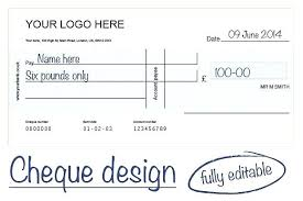 Blank Cheque Template Amazing Template Cheque Psd Cheques For Presentation Large Getpicksco
