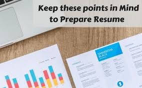 Preparing A Resume Things To Keep In Mind While Preparing Resume