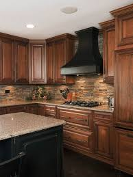 Fine Stone Kitchen Backsplash Dark Cabinets Design Ideas Pictures Remodel And Decor Page Intended