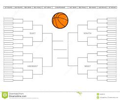 Sweet Sixteen Bracket Template Empty Basketball Bracket Barca Fontanacountryinn Com