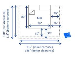 US king bed dimensions and clearances ...