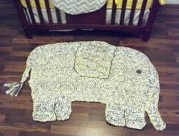elephant rug round nursery
