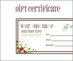 Christmas Iou Template Certificate Free Birthday Gift Printable