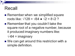 lesson 5 6 complex numbers 2 recall