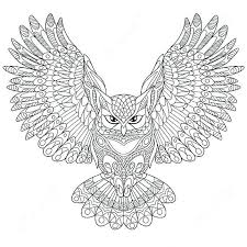 Modest Decoration Owl Coloring Pages For Adults Free Owl Coloring