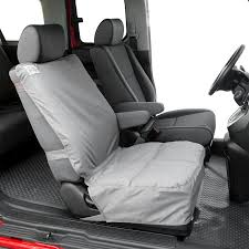 canine covers gray durable polycotton drill semi custom bucket seat protector