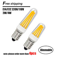 4w dimmable e14 led lamp 220v 110v mini led e12 filament bulb e14 cob led light bulb high lumen chandelier lights high quality light resist china e14 7w