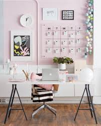 colorful feminine office furniture. A Feminine Home Office Can Be Psruced Up With Blush Statement Wall Colorful Furniture I