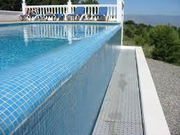 infinity pool edge detail. The Edge Of Infinity Pool Creates A Waterfall Effect Detail
