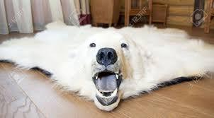 super faux polar bear rug with head designs