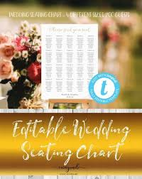 Editable Seating Chart Wedding Editable Seating Chart Template Seating Chart Sign Printable