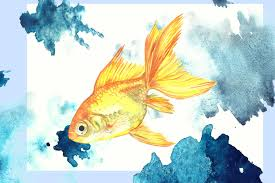 watercolor tropical fish sample free