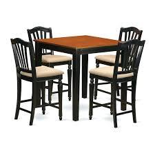 east west furniture dining set east west furniture pub 5 piece high splat dining table set