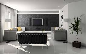 Outstanding Black And Grey Living Room Ideas Black Pattern Accent Wall Black  Couch Grey Modern Sofa White Floor Grey Curtain Standing Lamp