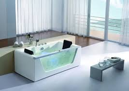 eago am196 6 clear rectangular whirlpool bath tub for two with fixtures
