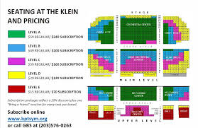 Klein Memorial Auditorium Seating Chart Buy Tickets Greater Bridgeport Symphony
