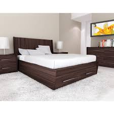 luxury wooden furniture storage. Furniture. Brown Polished Wooden Storage Bed With White Sheet And Pillows On Rug Combined Luxury Furniture R