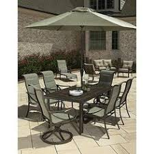 grand resort aspen patio furniture. grand resort aspen 7pc padded sling dining set with weatherstone top table 6 patio furniture