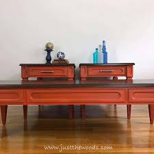 bold orange painted living room tables orange painted tables wood stain bling hardware glaze painted furniture ideas