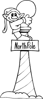 North Pole Christmas Elf Print Coloring Pages Free Printable