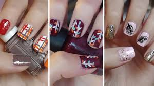 Easy Fall Nail Designs For Beginners Fall Nail Art Three Easy Designs