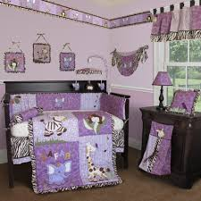 good looking baby nursery room design with baby crib bedding set entrancing purple girl