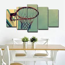 vintage home decoration retro basketball hoop landscape art sport canvas painting for living room wall art on vintage sport wall art with vintage home decoration retro basketball hoop landscape art sport