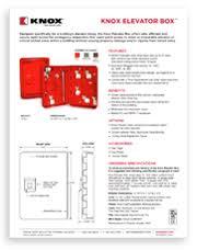 knox rapid access system Knox Box 3200 TS spec sheet knox elevator box specs