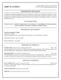 Resumes For Phlebotomist Resume Sample