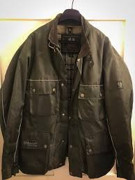 belstaff roadmaster canvas jacket quilted waistcoat medium faded olive barbour style