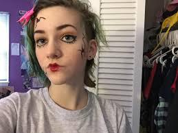 ed doll makeup look