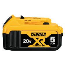 Dewalt Battery Comparison Chart 20v Max Xr 5 0ah Lithium Ion Battery Pack