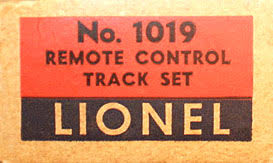 lionel trains uncoupling control track section spacer no 1019 box end