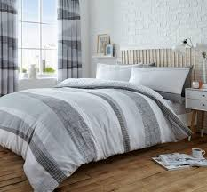 blue stripe duvet cover clue dexter stripes duvet quilt cover bedding set grey
