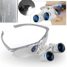 Cheap Dental Loupes With Light Us 61 29 High Quality Silver Binocular Dental Loupe 3 5x420mm Dental Magnifier Optical Glass Portable Led Head Light Lamp In Magnifiers From Tools